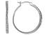 White Cubic Zirconia Rhodium Over Sterling Silver Hoop Earrings 1.17ctw