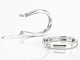 White Cubic Zirconia Rhodium Over Sterling Silver Hoop Earrings 0.48ctw