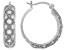 White Cubic Zirconia Rhodium Over Sterling Silver Hoop Earrings 1.69ctw