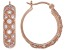 White Cubic Zirconia 18K Rose Gold Over Sterling Silver Hoop Earrings 1.69ctw