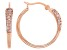 White Cubic Zirconia 18K Rose Gold Over Sterling Silver Hoop Earrings 0.89ctw