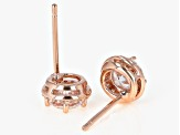 White Cubic Zirconia 18K Rose Gold Over Sterling Silver Earrings 1.93ctw
