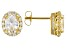 White Cubic Zirconia 18k Yellow Gold Over Sterling Silver Earrings 5.16ctw