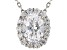 White Cubic Zirconia Rhodium Over Sterling Silver Pendant With Chain 2.66ctw