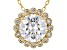 White Cubic Zirconia 18K Yellow Gold Over Sterling Silver Pendant With Chain 3.22ctw