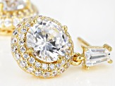 White Cubic Zirconia 18K Yellow Gold Over Sterling Silver Earrings 5.95ctw