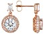 White Cubic Zirconia 18K Rose Gold Over Sterling Silver Earrings 5.95ctw