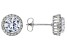 White Cubic Zirconia Rhodium Over Sterling Silver Earrings 4.97ctw