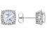 White Cubic Zirconia Rhodium Over Sterling Silver Earrings 5.79ctw