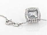 White Cubic Zirconia Rhodium Over Sterling Silver Pendant With Chain 3.98ctw