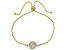 White Cubic Zirconia 18K Yellow Gold Over Sterling Silver Adjustable Bracelet 2.63ctw