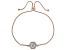 White Cubic Zirconia 18K Rose Gold Over Sterling Silver Adjustable Bracelet 2.63ctw