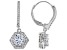 White Cubic Zirconia Rhodium Over Sterling Silver Dangle Earrings 3.38ctw