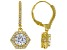 White Cubic Zirconia 18K Yellow Gold Over Sterling Silver Dangle Earrings 3.38ctw