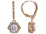 White Cubic Zirconia 18K Rose Gold Over Sterling Silver Dangle Earrings 3.38ctw
