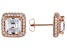White Cubic Zirconia 18K Rose Gold Over Sterling Silver Earrings 7.16ctw