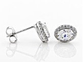 White Cubic Zirconia Rhodium Over Sterling Silver Earrings 1.76ctw