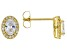 White Cubic Zirconia 18K Yellow Gold Over Sterling Silver Earrings 1.76ctw