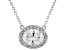 White Cubic Zirconia Rhodium Over Sterling Silver Necklace 2.12ctw
