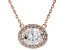 White Cubic Zirconia 18K Rose Gold Over Sterling Silver Necklace 2.12ctw