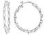 White Cubic Zirconia Rhodium Over Sterling Silver Hoop Earrings 5.24ctw