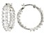 White Cubic Zirconia Rhodium Over Sterling Silver Inside Out Hoop Earrings 7.14ctw