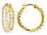 White Cubic Zirconia 18K Yellow Gold Over Sterling Silver Inside Out Hoop Earrings 7.14ctw
