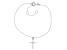 White Cubic Zirconia Rhodium Over Sterling Silver Cross Bracelet 0.17ctw