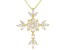 White Cubic Zirconia 18K Yellow Gold Over Sterling Silver Cross Pendant With Chain 2.76ctw