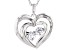 White Cubic Zirconia Rhodium Over Sterling Silver Heart Pendant With Chain 0.81ctw