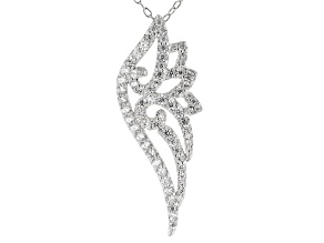 White Cubic Zirconia Rhodium Over Sterling Silver Pendant With Chain 1.31ctw