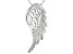 White Cubic Zirconia Rhodium Over Sterling Silver Angel Wing Pendant With Chain 0.53ctw