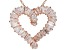 White Cubic Zirconia 18K Rose Gold Over Sterling Silver Heart Pendant With Chain 3.24ctw