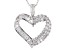 White Cubic Zirconia Rhodium Over Sterling Silver Heart Pendant With Chain 1.90ctw