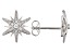 White Cubic Zirconia Rhodium Over Sterling Silver Star Stud Earrings 0.21ctw
