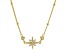 White Cubic Zirconia 18k Yellow Gold Over Sterling Silver Star Necklace 0.17ctw