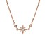 White Cubic Zirconia 18k Rose Gold Over Sterling Silver Star Necklace 0.17ctw