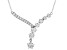 White Cubic Zirconia Rhodium Over Sterling Silver Star Necklace 6.11ctw