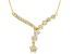 White Cubic Zirconia 18K Yellow Gold Over Sterling Silver Star Necklace 6.11ctw