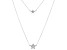 White Cubic Zirconia Rhodium Over Sterling Silver Star Necklace 0.18ctw