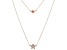 White Cubic Zirconia 18K Rose Gold Over Sterling Silver Star Necklace 0.18ctw
