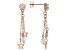 White Cubic Zirconia 18K Rose Gold Over Sterling Silver Star Dangle Earrings 2.96ctw