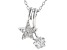 White Cubic Zirconia Rhodium Over Sterling Silver Star Pendant With Chain 0.75ctw