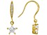 White Cubic Zirconia 18K Yellow Gold Over Sterling Silver Star Earrings 2.26ctw