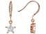 White Cubic Zirconia 18K Rose Gold Over Sterling Silver Star Earrings 2.26ctw