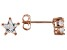 White Cubic Zirconia 18K Rose Gold Over Sterling Silver Star Stud Earrings 1.29ctw