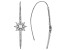 White Cubic Zirconia Rhodium Over Sterling Silver Star Threader Earrings 1.19ctw