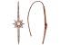 White Cubic Zirconia 18K Rose Gold Over Sterling Silver Star Threader Earrings 1.19ctw