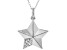 White Cubic Zirconia Rhodium Over Sterling Silver Star Pendant With Chain 0.08ctw