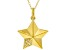 White Cubic Zirconia 18K Yellow Gold Over Sterling Silver Star Pendant With Chain 0.08ctw